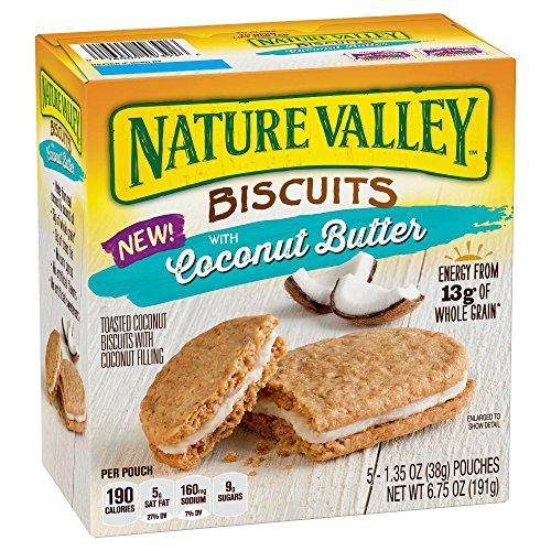 Nature Valley ネイチャーバレーココナッツバタービスケット191g(38gx5)x3箱 [並行輸入品]