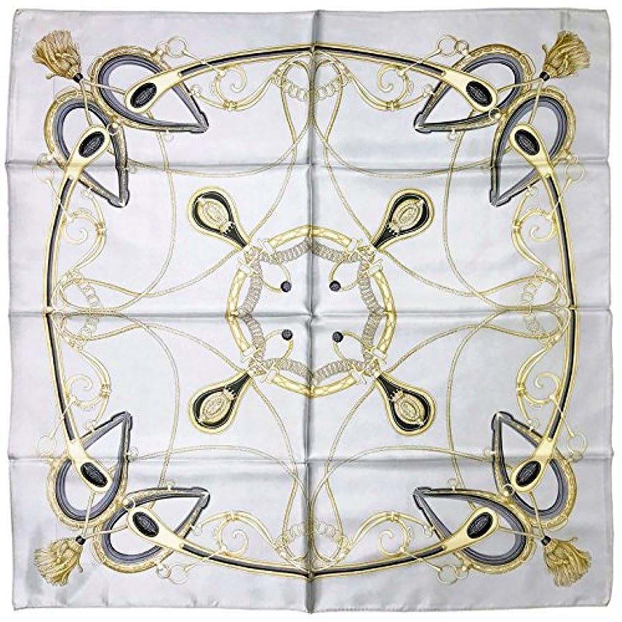 ポーズ救出符号シルクスカーフ Silk Scarf, ST889848 Simple Harness, 日本製, シルクツイル, 88x88cm, ブランドケース入り