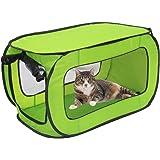 WEIMALL ポータブル ペットケージ 折りたたみ 幅820×奥行き495×高さ495mm 犬 猫 小型犬 猫用 グリーン