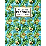 Academic Planner 2019-2020: Daily, Weekly & Monthly Student Planner, Organizer & Schedule Agenda for Students   Inspirational Quotes, Notes, Vision Boards & More - Exotic Pretty Blue Avocado Print