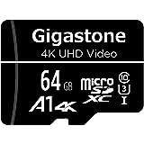 Gigastone マイクロSDカード 64GB Micro SD card SDアダプタ付き U1 C10 90MB…