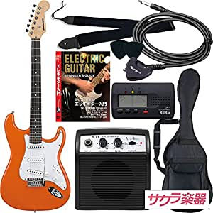 SELDER セルダー エレキギター ストラトキャスタータイプ サクラ楽器オリジナル ST-16/OR 初心者入門リミテッドセット