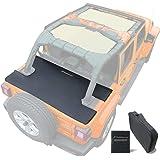 Shadeidea Tonneau Cover for Jeep Wrangler JL 4 Door, JLU (2018-Current) Rear Trunk Ton Cover, Cargo Vinyl Tailgate Cover for