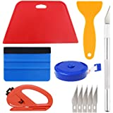 Wallpaper Smoothing Tool Kit Include red Squeegee,Medium-Hardness Squeegee, Black Tape Measure,snitty Vinyl Cutter and Craft