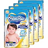 MamyPoko Extra Dry Tape, XL, 40 Count, (Pack of 4)