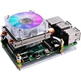 GeeekPi 52Pi Low-Profile CPU Cooler, Raspberry Pi Horizontal ICE Tower Cooler, RGB Cooling Fan with Raspberry Pi Heatsink for