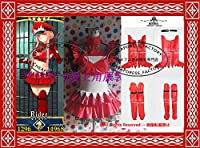修正版 Fate/Grand Order★女王メイヴ 赤 ☆コスプレ衣装 +手袋+靴下 合皮 全セット