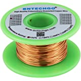 """BNTECHGO 22 AWG Magnet Wire - Enameled Copper Wire - Enameled Magnet Winding Wire - 4 oz - 0.0256"""" Diameter 1 Spool Coil Natu"""