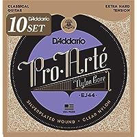 D'Addario ダダリオ クラシックギター弦 プロアルテ Silver/Clear Extra Hard EJ44 x 10セット 【国内正規品】