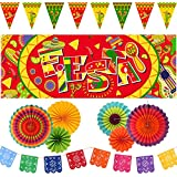メキシコフィエスタデコレーション10点セット - フィエスタ ピカドバナー シンコ?デ?マヨ メキシコ フェスティバル カーニバル パーティー用品 メキシカンデコレーション
