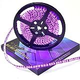 ぶーぶーマテリアル LEDテープ ピンク 紫 600連 高輝度 5m 12V 黒ベース 防水 IP65 【カーパーツ】