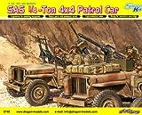 サイバーホビー 1/35 WW.II イギリス陸軍 SAS 1/4トン 4x4 小型軍用車輌 重武装タイプ フィギュア 2体付き