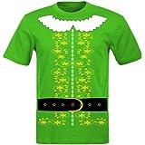 fresh tees Elf Costume T Shirt Santa Christmas Holiday Shirt