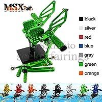 MSX-moto 可倒式 調整型 CNC アジャスタブル バックステップ 適応ドゥカティ Ducati 749/999 绿/グリーン