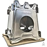 Uberleben Stoker Flatpack Wood Burning Stove | Compact and Collapsible | Emergency Survival Bushcraft Backpacking | Burns Twi