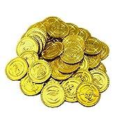 R-STYLE 海賊 盗賊 アイテム ゴールドコイン 金貨 100枚セット 財宝 宝探しごっこや パーティグッズとして