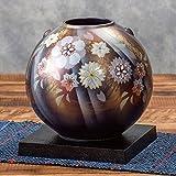 九谷焼 陶器 花瓶 陽光花の舞 AK5-1307