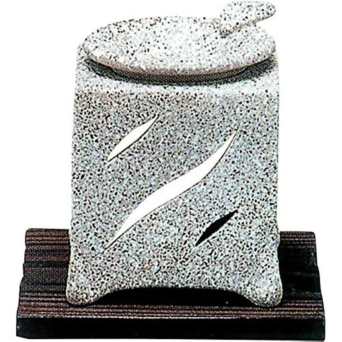 持参気体の切り離す【常滑焼】山房 石風角形茶香炉 石風角形 10×10×H12㎝ 5-261