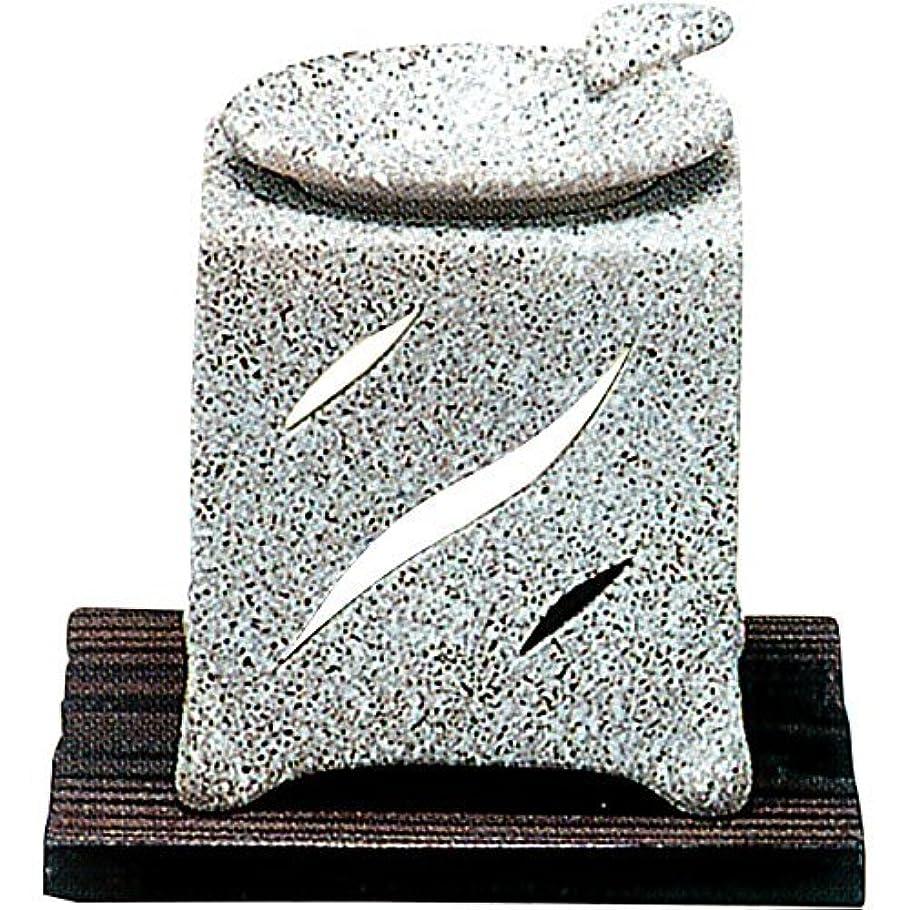 涙囲む対【常滑焼】山房 石風角形茶香炉 石風角形 10×10×H12㎝ 5-261