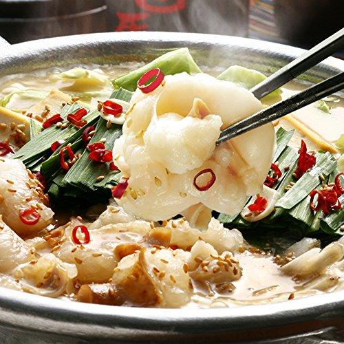 博多 厚切り 小腸 牛もつ鍋セット (3~4人前 醤油味) もつ鍋 専門店 博多若杉