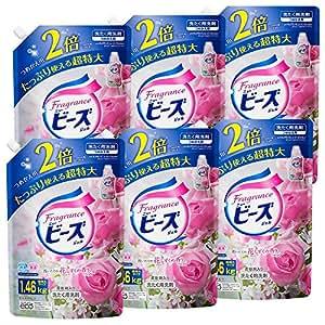 【ケース販売】フレグランスニュービーズ 衣料用洗剤 液体 ジェル 詰替用 大容量 1460g×6個