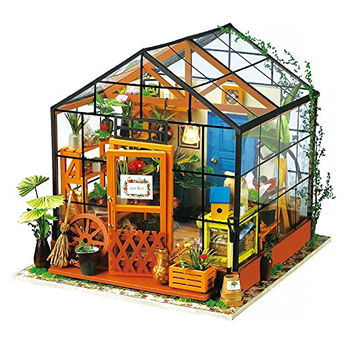 Robotime ドールハウス 3Dパズル ミニチュア DIY 木製 LED付き 子供 おもちゃ (花屋)