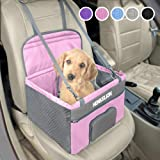 Henkelion Pet Dog Booster Seat, Deluxe Pet Booster Car Seat for Small Dogs Medium Dogs, Reinforce Metal Frame Construction, P