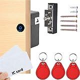 Electronic Cabinet Lock, Hidden DIY RFID Lock ,for Wooden Cabinet Drawer Locker Cupboard Punch-Free, Locker Lock, Wardrobe Lo