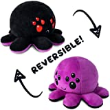 TeeTurtle | Reversible | Cute Mini Plushies | Big Black and Purple Spider | Squish Often - Cuddle Daily | Show Your Mood with