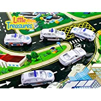 Die-cast police toy car fleet set of 5 assorted vehicles alloy toy car models a swat, chase, patrol, detective and a traffic unit pretend play models