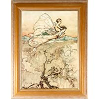 BiblioArt Series アーサー・ラッカム「And her fairy sent to bear him my bower in fairy land」額装品