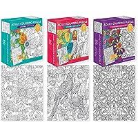 50個大人カラーリングJigsawパズル( 3 )、色鉛筆、mini-twistクレヨン5-pieceバンドル