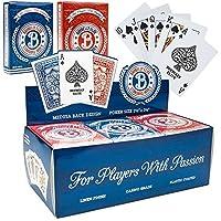 1ダースElite Medusa BackプレミアムPoker Playing Cards–6ブルー& 6レッドDecks 。