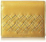 [ミチコロンドン] MICHIKOLONDON 中L字ファスナータイプ小銭入れつき2つ折財布 レディス カードポケット13枚 本革 MJ5972 Y (イエロー)