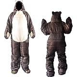 着る寝袋 歩ける寝袋 人型 動ける寝袋 シュラフ 冬用 男女兼用 3サイズ (適応身長150cm~190cm)