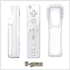 【E-game】 Wii リモコンコントローラ シロ WiiU Wii 対応 コントローラー (リモコンジャケット 同梱) クリーニングクロス & 日本語説明書 & 1年保証付き