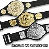 Set of 6 UFC Championship Action Figure フィギュア Belts: 2 UFC 2 Pride & 2 WEC Action Figure Belts by Jakks [並行輸入品]
