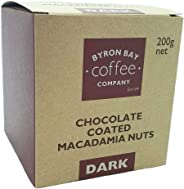 Byron Bay Coffee Company Dark Chocolate Coated Macadamia Nuts, 200g