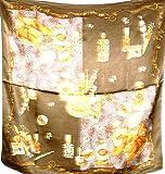 Jingjingart 100%贅沢なシャルムーズシルクスカーフショールラップPerfumeブラウンa146