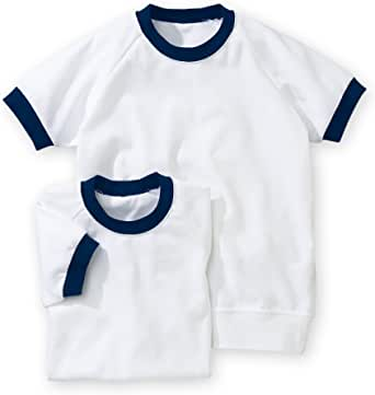 [nissen(ニッセン)] 体操服 シャツ セット 2枚組 半袖 衿・袖口配色 キッズ ジュニア 男の子 女の子 兼用
