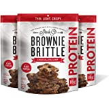 Sheila G's Brownie Brittle Protein Chocolate Chip- Plant Based Protein Low Calorie Healthy, Sweets & Treats Dessert, Chocolat