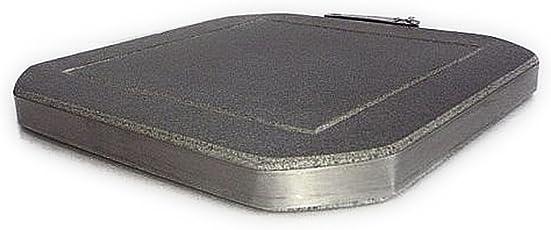 み尋「高耐久溝付き溶岩石プレート」15×15×1.5~2cm厚 玉華製(溶岩ロース・安山岩・堅石)