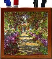 Rikki Knight Claude Monet Art Giverny Design 5-Inch Wooden Tile Pen Holder (RK-PH3379) [並行輸入品]