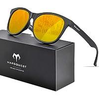 MARSQUEST 偏光サングラス ウェリントン型 UV400紫外線 反射光 強光 グレアカット 落下防止 抗衝撃 自転…
