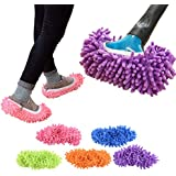 5 Pairs/10 pcs Washable Dust Mop Slippers Shoes Cover Soft Washable Reusable Microfiber Cleaning Mop Slippers Floor Dust Hair