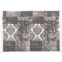 Wvfguj マニュアル手織りコットンシンプルなカーペットマットラグブランケット (Color : A, Size : 60*90cm)