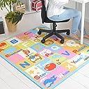 なかね家具 デスクカーペット 男の子 女の子 ラグマット 洗える アニマルデザイン ホットカーペット対応 110x133 ブルー 172epu