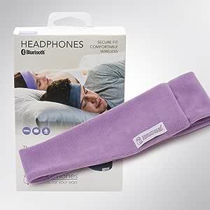 スリープフォン ワイヤレス (Bluetoothヘッドフォン) ラベンダーMサイズ[55cm - 59cm] フリース (Fleece)素材