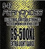 FERNANDES フェルナンデス エレキギター弦 エクストラライトゲージ 009-042 【3セットパック】 GS1500XL NI