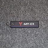 PUXINGPING- ヤマハMT-09 MT-07 MT-03 MT-01 MT-25 MT-125 MT-10用オートバイのキーチェーン織キーリングタグラベルチェーン (Color : MT 01)